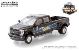 Ford  - F-350 2019 black/blue - 1:64 - GreenLight - 46050F - gl46050F | Toms Modelautos