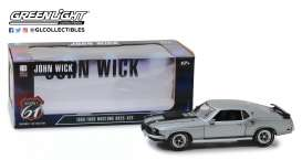 Ford  - Mustang Boss 1969 grey/black - 1:18 - Highway 61 - hwy18016 - hwy18016 | Toms Modelautos