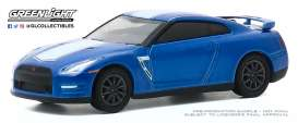 Nissan  - GT-R 2015 blue/white - 1:64 - GreenLight - 28040D - gl28040D | Toms Modelautos