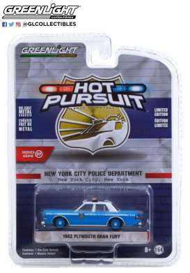 Plymouth  - Gran Fury 1982 blue/white - 1:64 - GreenLight - 42950B - gl42950B | Toms Modelautos