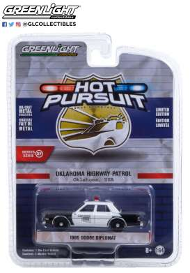 Dodge  - Diplomat 1985 black/white - 1:64 - GreenLight - 42950C - gl42950C | Toms Modelautos