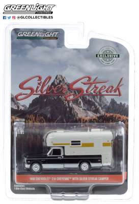 Chevrolet  - C-10 1969 black/white/silver - 1:64 - GreenLight - 30190 - gl30190 | Toms Modelautos