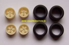 Rims & tires Wheels & tires - 1:24 - Scale Production - SPRF24039F | Toms Modelautos
