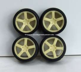 Rims & tires Wheels & tires - 1:24 - Scale Production - SPRF24043 | Toms Modelautos