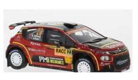 Citroen  - C3 2019 black/red - 1:43 - IXO Models - ram738 - ixram738 | Toms Modelautos