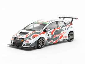 Honda  - Civic  2017 white/black/red - 1:43 - Tarmac - T43-007-17ST97 - Tarmac17ST97 | Toms Modelautos