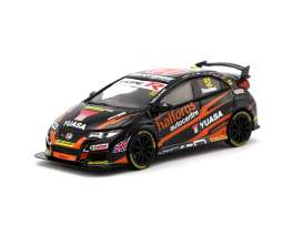 Honda  - Civic Type R black/orange - 1:64 - Tarmac - T64-003-BTCC - Tarmac003-BTCC | Toms Modelautos