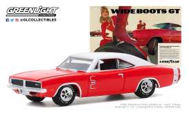 Dodge  - Charger 1969 red/white - 1:64 - GreenLight - 30196 - gl30196 | Toms Modelautos
