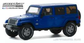 Jeep  - Wrangler 2013 blue - 1:43 - GreenLight - 86185 - gl86185 | Toms Modelautos