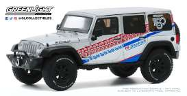 Jeep  - Wrangler 2017 grey/white - 1:43 - GreenLight - 86186 - gl86186 | Toms Modelautos