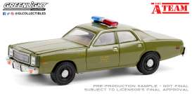 Plymouth  - Fury 1977 green - 1:64 - GreenLight - 44865A - gl44865A | Toms Modelautos