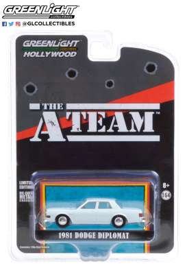 Dodge  - Diplomat 1981 blue-silver - 1:64 - GreenLight - 44865D - gl44865D | Toms Modelautos