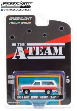 GMC  - Jimmy 1983 silver/red - 1:64 - GreenLight - 44865E - gl44865E | Toms Modelautos