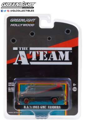 GMC  - Vandura *A-Team* 1983 black/grey/red - 1:64 - GreenLight - 44865F - gl44865F | Toms Modelautos