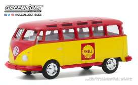 Volkswagen  - Samba 1964 red/yellow - 1:64 - GreenLight - 30000B - gl30000B | Toms Modelautos