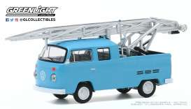 Volkswagen  - Type 2 1973 blue - 1:64 - GreenLight - 30000D - gl30000D | Toms Modelautos