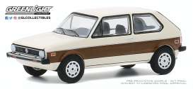 Volkswagen  - Rabbit 1977 cream/brown - 1:64 - GreenLight - 30000E - gl30000E | Toms Modelautos