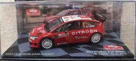 Citroen  - C4 2007 red/white - 1:43 - Magazine Models - MagRACit2007 | Toms Modelautos