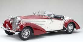 Horch  - 855 Roadster 1939 dark red/cream - 1:18 - SunStar - 2406 - sun2406 | Toms Modelautos