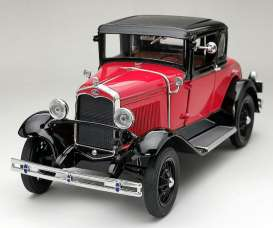 Ford  - Model A Coupe 1931 aurora red/ andolusite blue - 1:18 - SunStar - 6137 - sun6137 | Toms Modelautos
