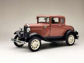 Ford  - Model A Coupe 1931 brown - 1:18 - SunStar - 6138 - sun6138 | Toms Modelautos