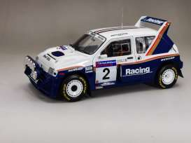 MG  - Metro 6R4 #22 1986 white/blue - 1:18 - SunStar - 5542 - sun5542 | Toms Modelautos