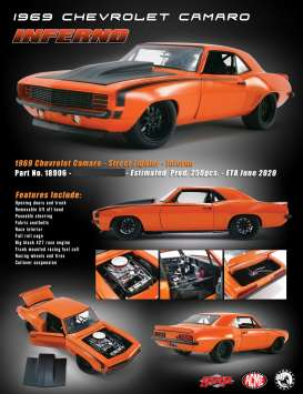 Chevrolet  - Camaro *Inferno* 1969 orange/black - 1:18 - Acme Diecast - 18906 - acme18906 | Toms Modelautos