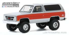 GMC  - Jimmy 1984 grey/red - 1:64 - GreenLight - 35170D - gl35170D | Toms Modelautos