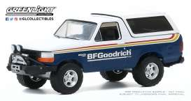Ford  - Bronco 1992 blue/white - 1:64 - GreenLight - 35170E - gl35170E | Toms Modelautos