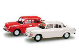 Skoda  - 1000 MB red/white - 1:120 - Herpa - H066020 - herpa066020 | Toms Modelautos