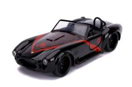 Shelby  - Cobra 427 *Spiderman* 1965 black/red - 1:32 - Jada Toys - 31743 - jada31743 | Toms Modelautos