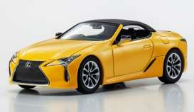 Lexus  - LC Convertible 1997 naples yellow - 1:43 - Kyosho - 3902y - kyo3902y | Toms Modelautos
