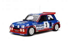 Renault  - Maxi 5 Turbo blue/red/white - 1:12 - OttOmobile Miniatures - G038 - ottoG038 | Toms Modelautos