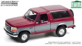 Ford  - Bronco 1996 burgundy/silver - 1:18 - GreenLight - 19095 - gl19095 | Toms Modelautos