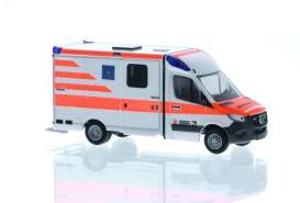 Mercedes Benz  - Sprinter red/white - 1:87 - Rietze - R76210 - RZ76210 | Toms Modelautos