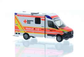 Mercedes Benz  - Sprinter red/white - 1:87 - Rietze - R76212 - RZ76212 | Toms Modelautos