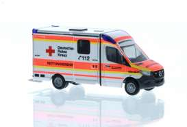 Mercedes Benz  - Sprinter red/white - 1:87 - Rietze - R76219 - RZ76219 | Toms Modelautos