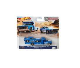 Ford  - Mustang Boss 302 & Retro Rig 1969 blue/white - 1:64 - Hotwheels - GJT38 - hwmvGJT38 | Toms Modelautos