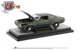 Chevrolet  - Camaro 1969 green/black - 1:24 - M2 Machines - 40300-75B - M2-40300-75B | Toms Modelautos