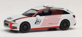Audi  - A6 white/red - 1:87 - Herpa - H095211 - herpa095211 | Toms Modelautos