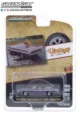Dodge  - Challenger 1970 purple - 1:64 - GreenLight - 39050B - gl39050B | Toms Modelautos