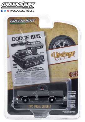 Dodge  - Coronet 1975 black - 1:64 - GreenLight - 39050D - gl39050D | Toms Modelautos