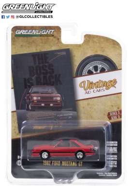Ford  - Mustang 1982 red/black - 1:64 - GreenLight - 39050E - gl39050E | Toms Modelautos