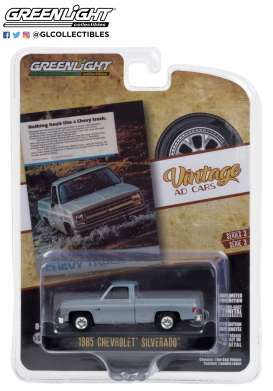 Chevrolet  - Truck 1985 blue - 1:64 - GreenLight - 39050F - gl39050F | Toms Modelautos