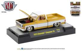 Chevrolet  - Cheyenne Squarebody 1973 yellow/white - 1:64 - M2 Machines - 31500MJS24 - M2-31500MJS24 | Toms Modelautos