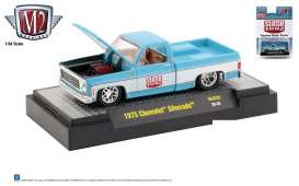 Chevrolet  - Silverado 1975 blue/white - 1:64 - M2 Machines - 32500MJS25 - M2-32500MJS25 | Toms Modelautos