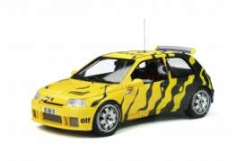 Renault  - Clio 1995 black/yellow - 1:18 - OttOmobile Miniatures - 822 - otto822 | Toms Modelautos