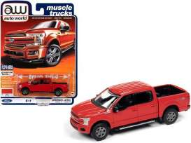 Ford  - F-150 2018 red - 1:64 - Auto World - SP041B - AWSP041B | Toms Modelautos