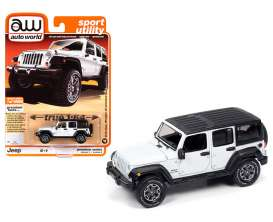 Jeep  - Wrangler 2018 white/black - 1:64 - Auto World - SP042A - AWSP042A | Toms Modelautos