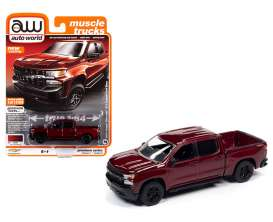 Chevrolet  - Silverado 2019 red - 1:64 - Auto World - SP043A - AWSP043A | Toms Modelautos